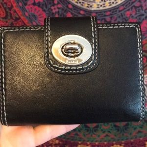 Leather coach wallet